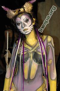 Maquillaje de fantasia corporal o body paint